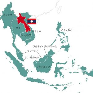 laos asean map