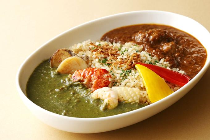 タイ風「スーパー2色カレー スパイシー」は奮発しても食べたいホテルニューオータニ大阪の夏の特撰メニュー