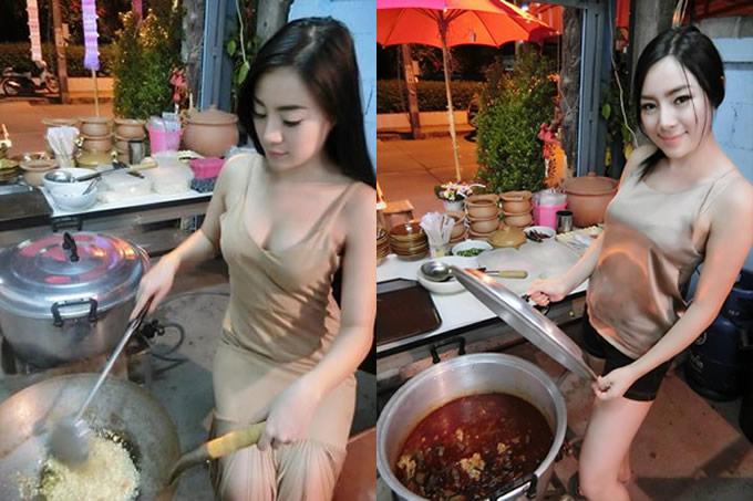 セクシー美女のタイ料理食堂がチェンライで発見された!