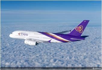 タイ航空が関西空港へ大型旅客機『エアバスA380型機』を再就航、TG623便とTG622便で