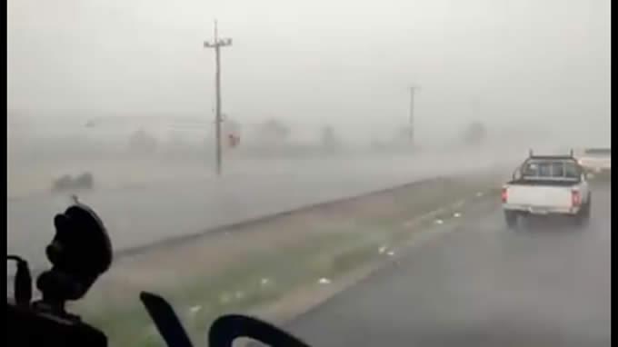 ウドンタニ県ノンハン郡を襲った恐怖の大嵐
